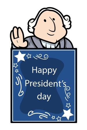 george washington: George Washington - Presidents Day Vector