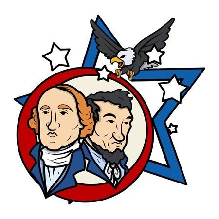 george washington: Presidents Day Vector Illustration