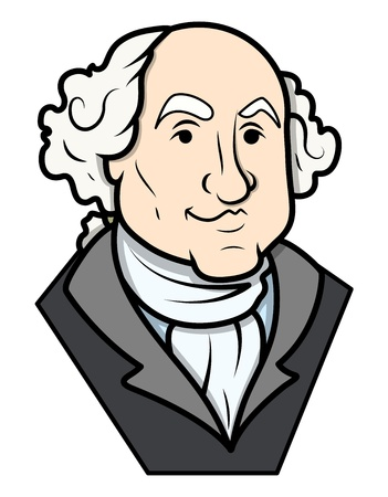 george washington: George Washington Vector Clip-art Illustration