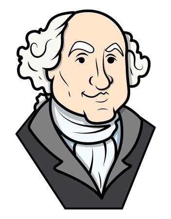 George Washington Vector Clip-art Ilustrace