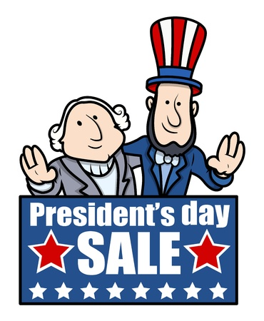 george washington: Presidents Day Sale - Vector Illustration Illustration