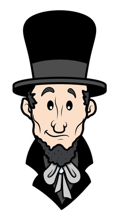 Abraham Lincoln Cartoon Vector Karakter