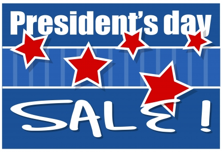 Presidents Day Sale Background Illustration