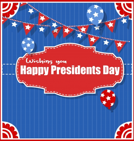 governor: Happy Presidents Day Background Vector Illustration