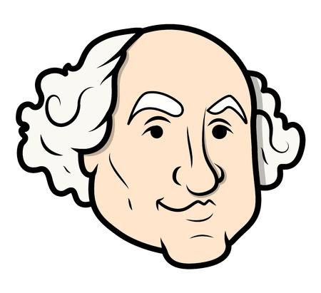 George Washington Vector Cartoon Clip-Art Vector Vector