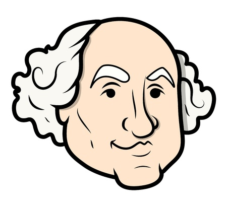 george washington: George Washington Vector Cartoon Clip-Art Vector