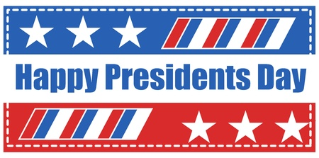Happy Presidents Day Banner Flag Vector Vector