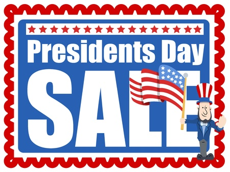 Presidents Day Sale Stamp Style Background Vector