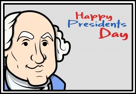 Gelukkig Presidents Day - George Washington's Birthday Vector