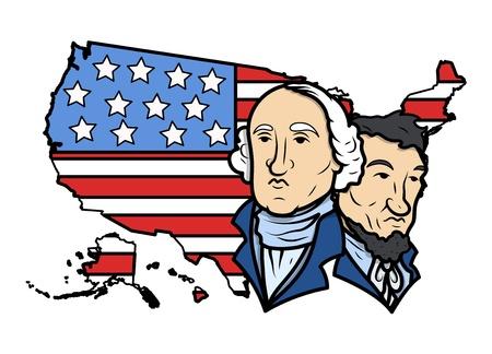 honoring: Honoring Our Presidents on Washington Birthday Vector Illustration
