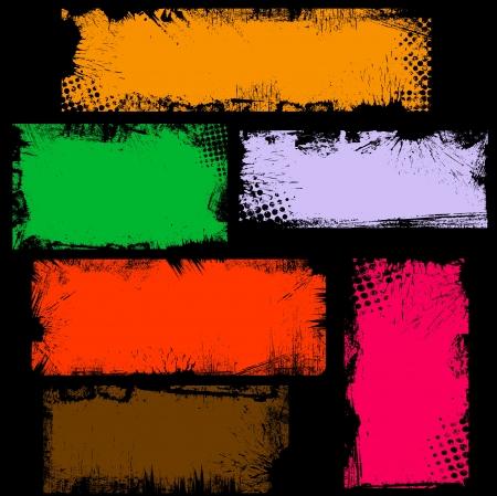 Dirty Grunge Edges Banner Box Vectoren
