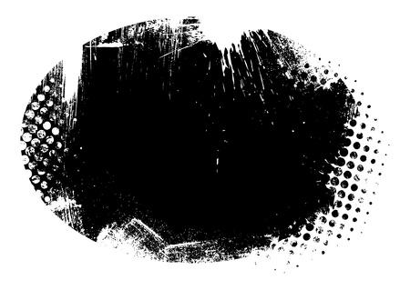 Grunge Silhouette Circular Background Illustration