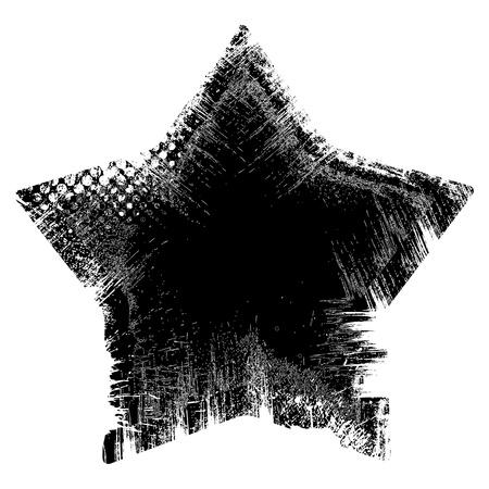 Star - Grunge Vector Illustration Background Stock Vector - 22170699