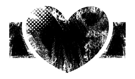 Romantic Heart - Grunge Vector Illustration Background Vector
