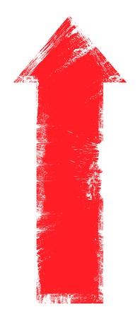 upward: Upward Arrow Grunge Vector Illustration