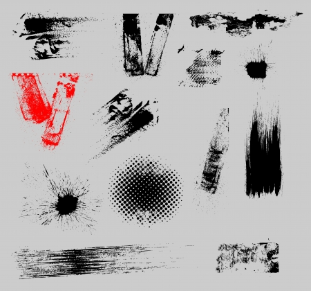 Grunge Strokes and Overlay Vector Set Vector