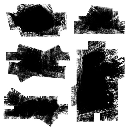 Grunge Vector Shape Banners