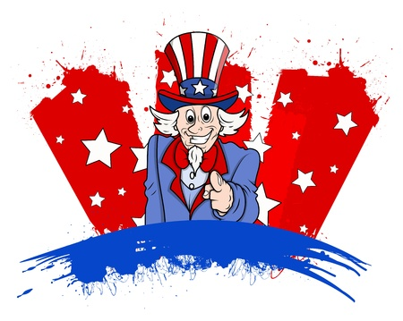 Uncle Sam - 4th of July Vector theme Design Stock Vector - 22318147