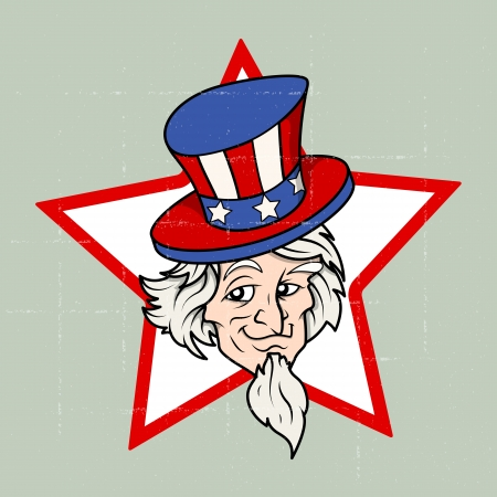 Uncle sam - 4th of July Vector theme Design Vector