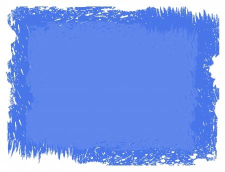 grunge blue background with rough edges Illustration
