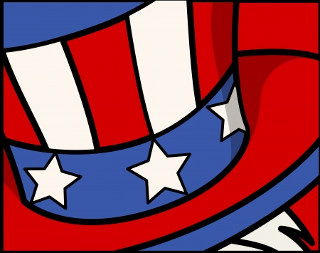 uncle sam hat - 4th of July Vector theme Design Stock Vector - 22318161