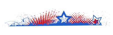 Edge Divider - 4th of July Vector theme Design Vector