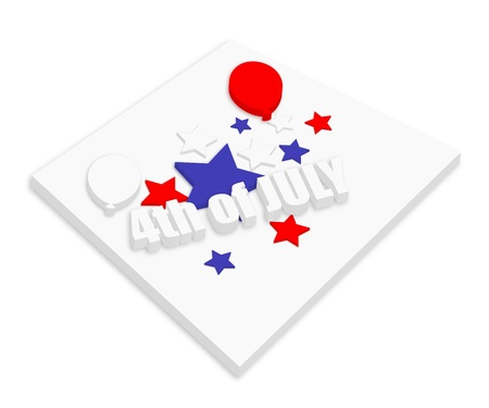 i want you: 3d text - 4th of July Vector theme Design Illustration