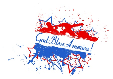 bless: God bless america - 4th of July Vector theme Design