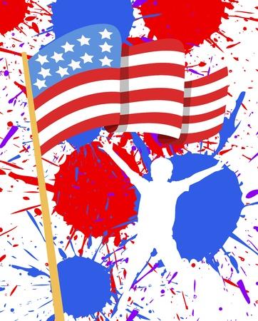 USA Flag - 4th of July Vector theme Design Vector