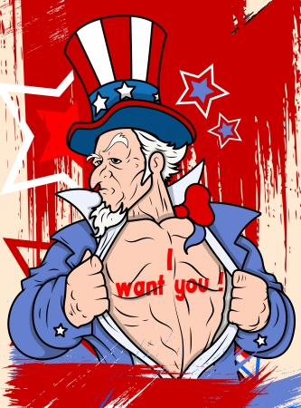 i want you: Uncle sam - I want you - 4th of July Vector theme Design Illustration