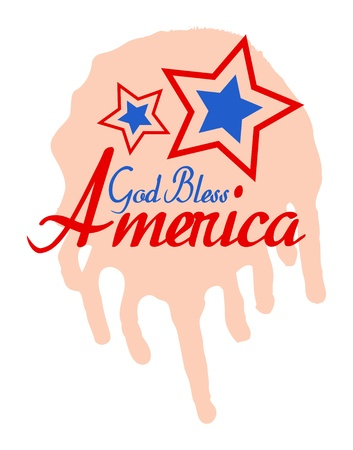 God Bless America - 4th of July Vector theme Design Vector