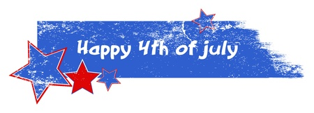 presidential: Happy 4th of july grunge stroke banner