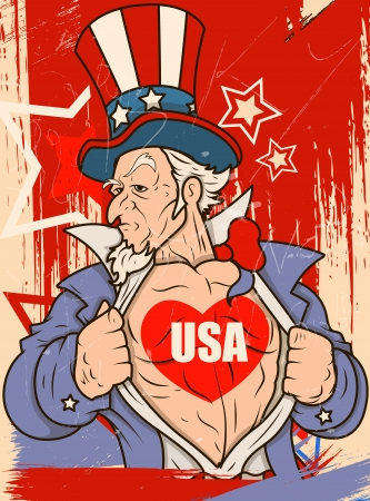 sam: Uncle Sam - USA Love - Vector Portrait