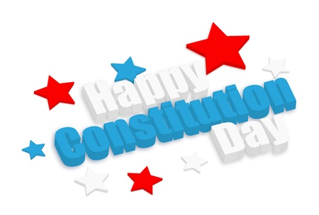constitution day: happy constitution day vector