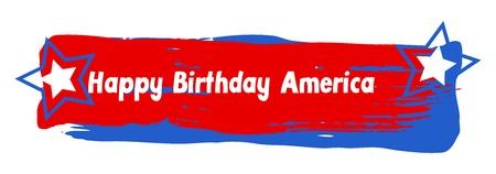 happy birthday america vector banner Vector