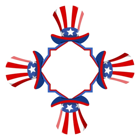 uncle sam: uncle sam hats banner - 4th of July Vector theme Design