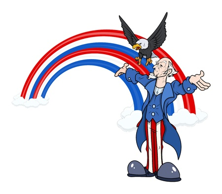 want: uncle sam - 4th of July Vector theme Design Illustration