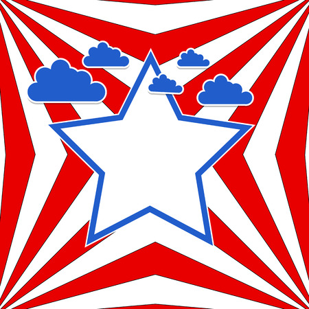 USA flag theme sky vector background Stock Vector - 22318245