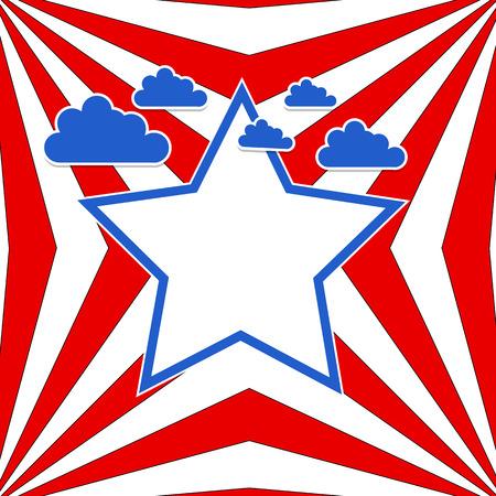 USA flag theme sky vector background Stock Vector - 22318245