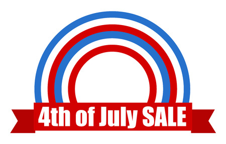 Sale - USA Independence Day Vector theme Design Stock Vector - 22318260