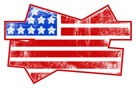 grunge flag - USA Independence Day Vector theme Design