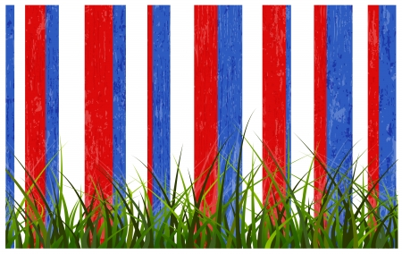 grass line - USA Independence Day Vector theme Design Vector