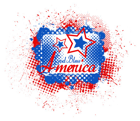 bless: God Bless America - USA Independence Day Vector theme Design