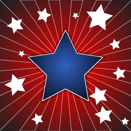star sunburst background - American themed Independence Day Vector Design Stock Vector - 22318284