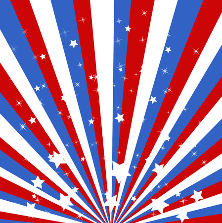 sunbeam - US 4th of July - Independence Day Vector Design Stock Vector - 22318287