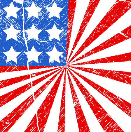 grunge flag - US 4th of July - Independence Day Vector Design