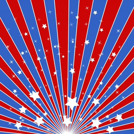 sunburst background - American themed Independence Day Vector Design Stock Vector - 22318295