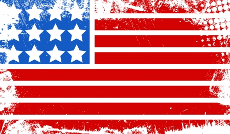 grunge dirty old flag - US 4th of July - Independence Day Vector Design