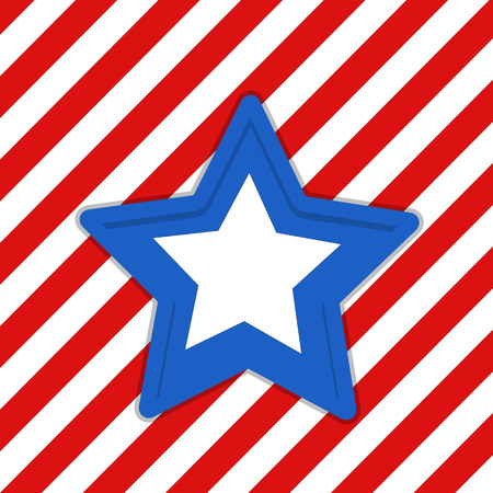 hazard stripes: star - US 4th of July - Independence Day Vector Design