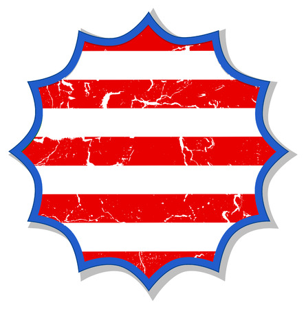 grunge sticker - US 4th of July - Independence Day Vector Design Stock Vector - 22318314
